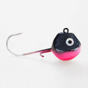 Light Tackle LT Jighead mit VMC Haken black-magic-pink 85g
