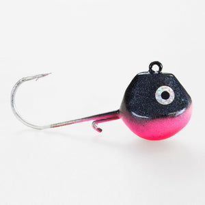 Light Tackle LT Jighead mit VMC Haken black-magic-pink 100g