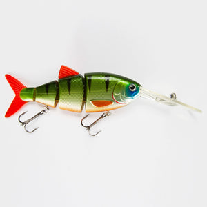 "Swimbait BBZ-1 4"" Crank-N-Shad Green Perch"