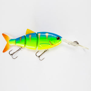 "Swimbait BBZ-1 4"" Crank-N-Shad Blue Back Chartreuse"