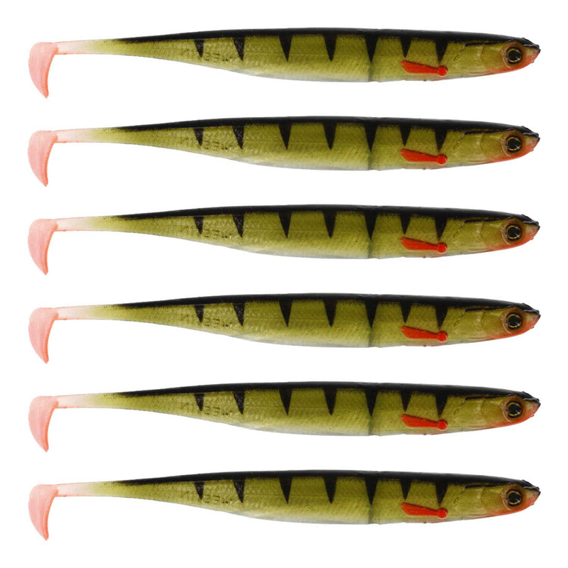 Westin KickTeez ST Gummifisch, 9cm - 4g - Striped Perch - 6Styck