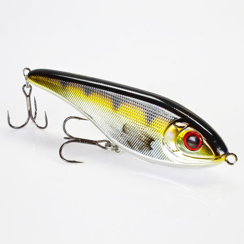 Jerkbait Buster Jerk 15cm slow sinking C606E Metallic Perch