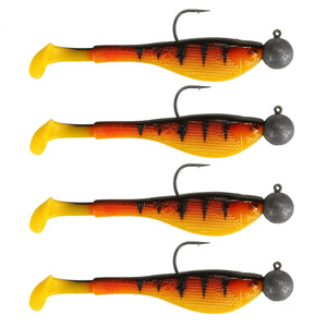 Mini Fry Gummifisch 7cm 5g 1/0 Loaded Hot Tiger x 4