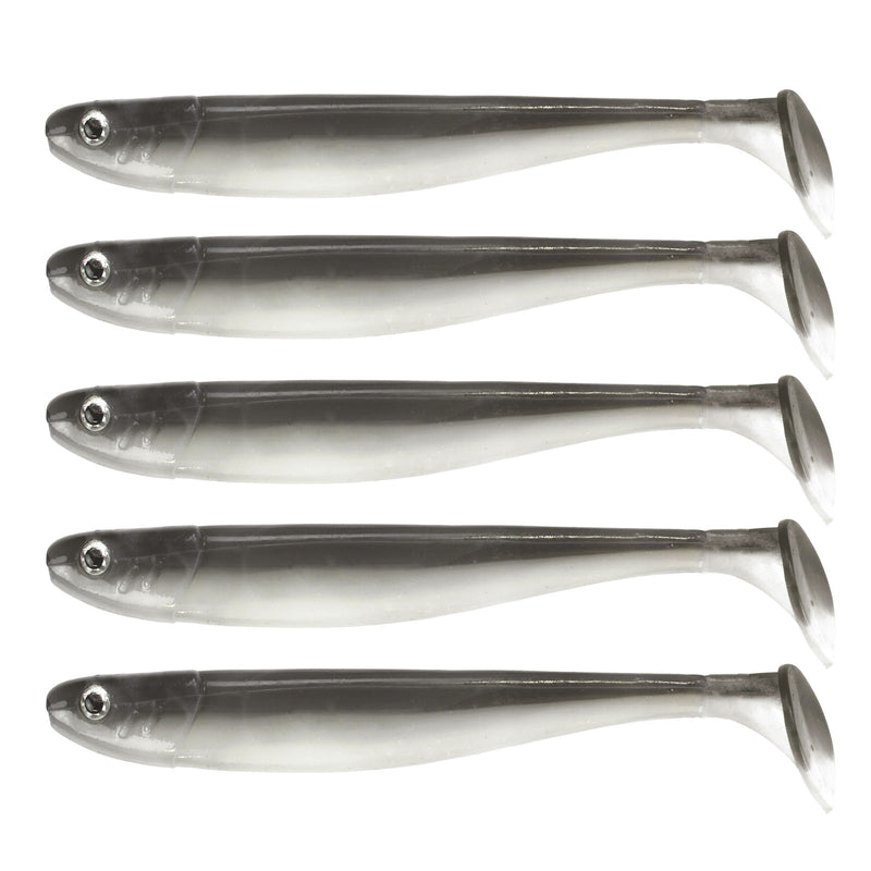 "Jig 'n' Swim Shad 5"" (12cm) 5 Stück Ghost Magic"