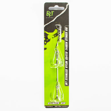 Stainless Nylon coated Tandem Stinger Rig Medium