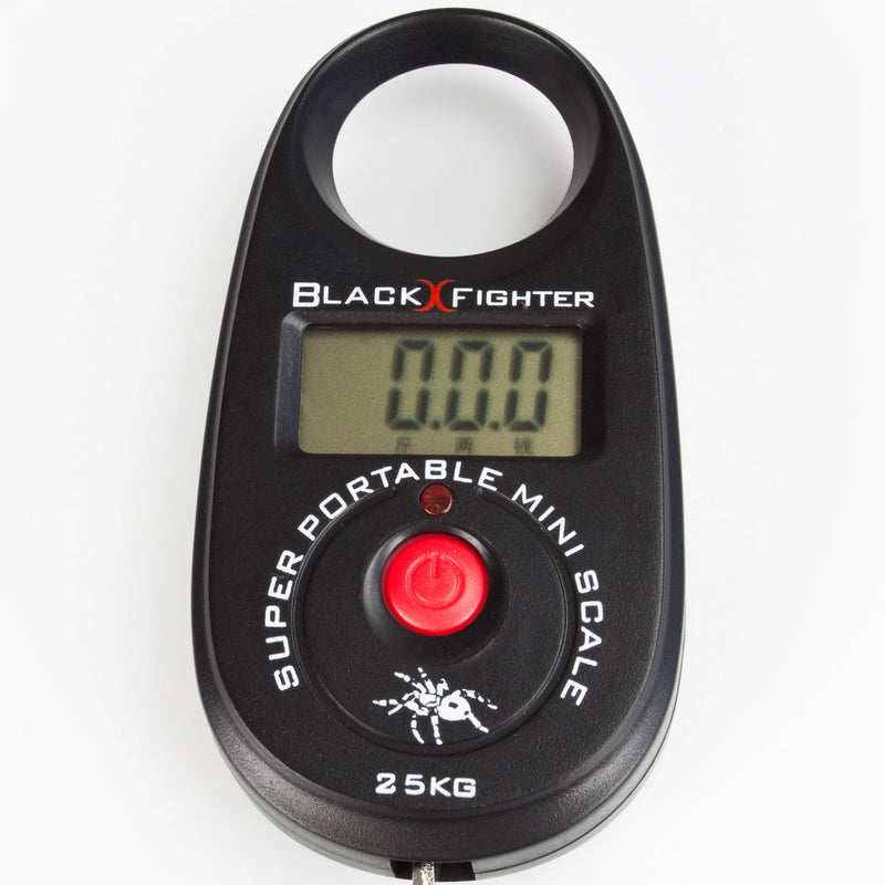 Black Fighter Digitale Mini Fischwaage bis 25 Kg inklusive Batterien