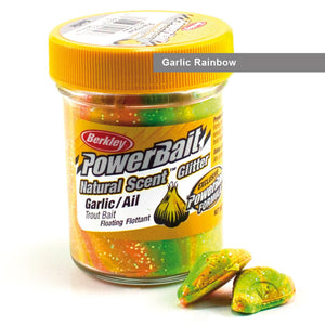 Powerbait Natural Scent Trout Bait Glitter Garlic Rainbow
