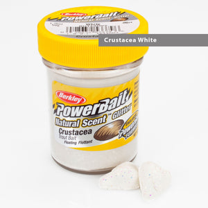 Powerbait Natural Scent Trout Bait Glitter Crustacea White