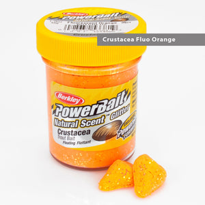 Powerbait Natural Scent Trout Bait Glitter Crustacea Fluo Orange