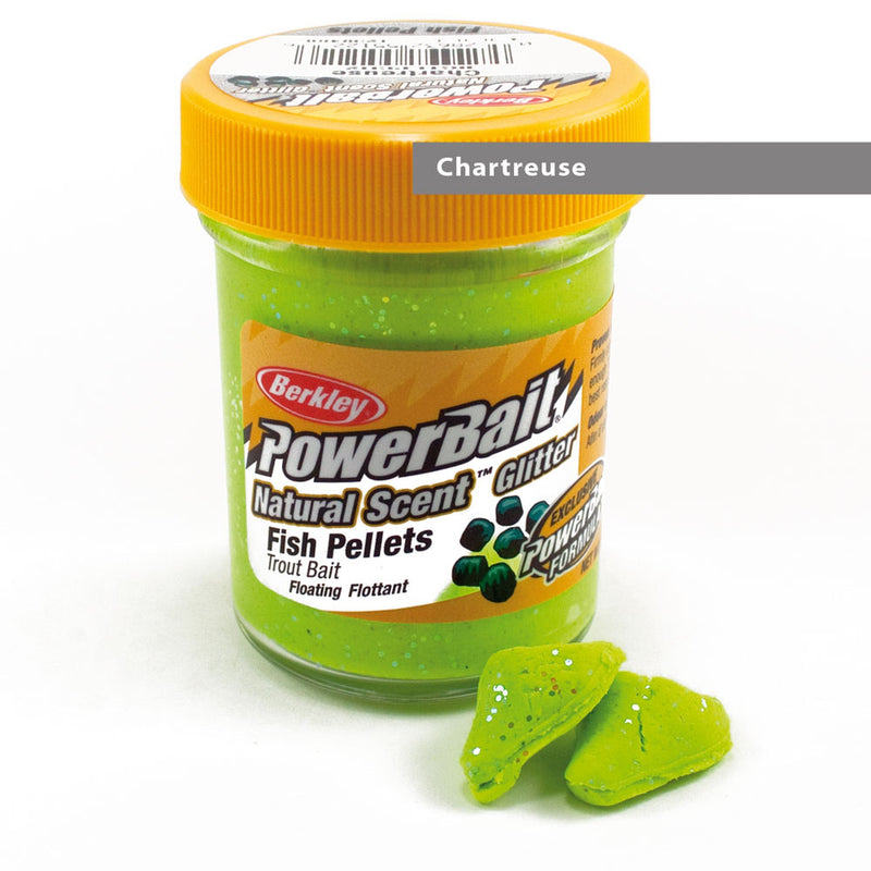Powerbait Dough Natural Scent Fish Pellet Chartreuse