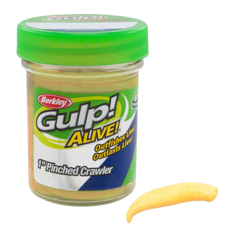"Gulp! Floating Pinched Crawler 1"" Chunky Cheese"