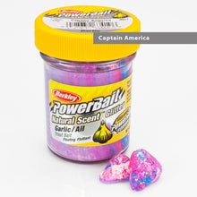 Ladda upp bild till gallerivisning, Powerbait Natural Scent Trout Bait Glitter Garlic Captain America