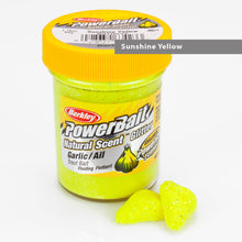 Ladda upp bild till gallerivisning, Powerbait Natural Scent Trout Bait Glitter Garlic Sunshine Yellow