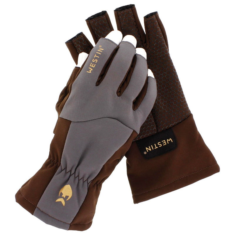 Westin W4 Quickstrip Half-Finger Glove Chestnut/Grå