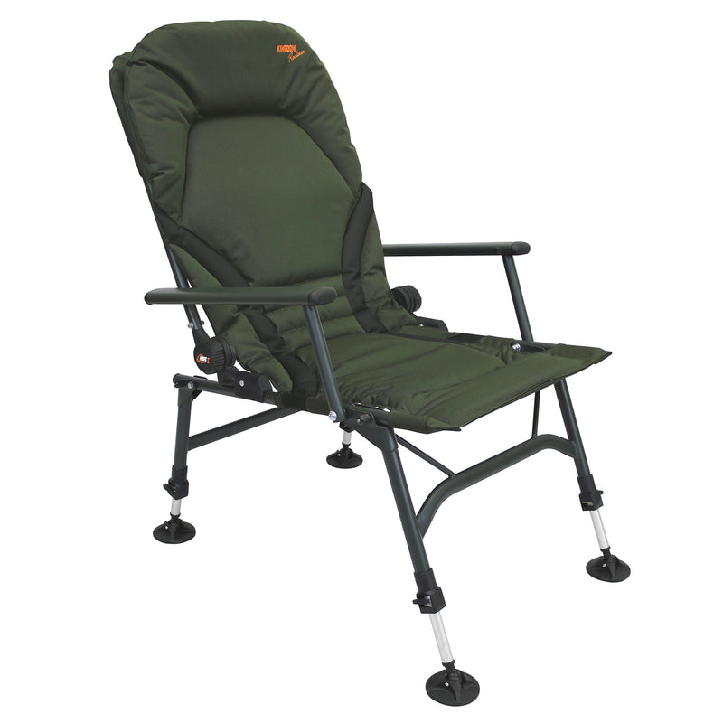 Kingdom Recliner Carp Chair (Karpfenstuhl) mit Armlehnen