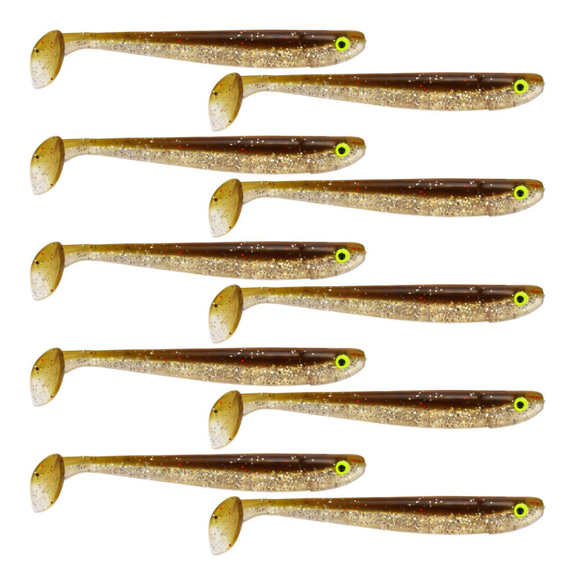 "Tackle Porn Magnetic Mama 3"" Softbait, 7,60 cm - 3g - 10 Styck - Brown Chameleon"