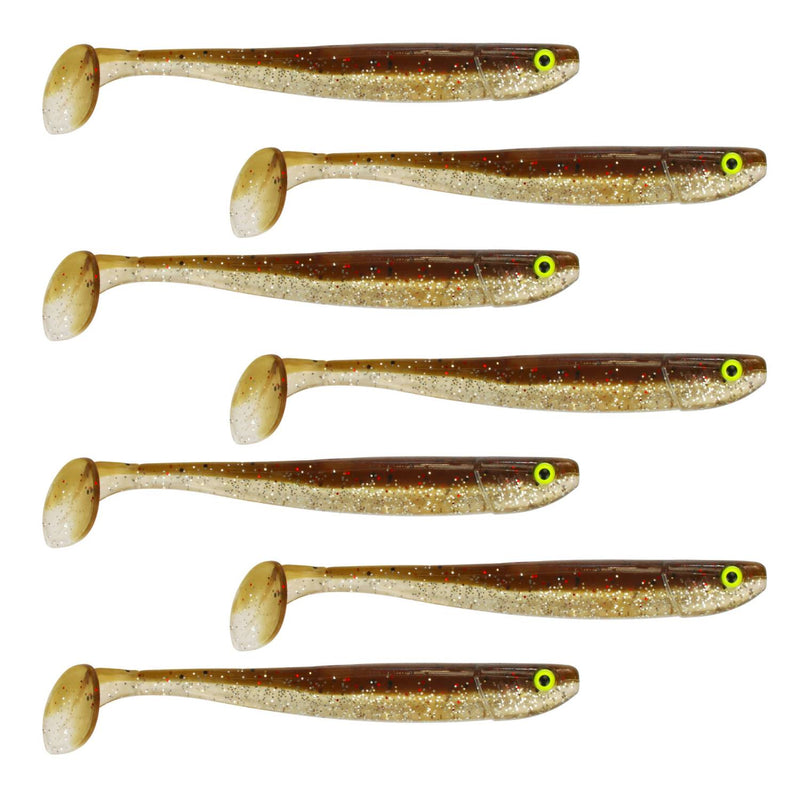 "Tackle Porn Magnetic Mama 4"" Softbait, 9,90 cm - 7g - 7 Styck - Brown Chameleon"