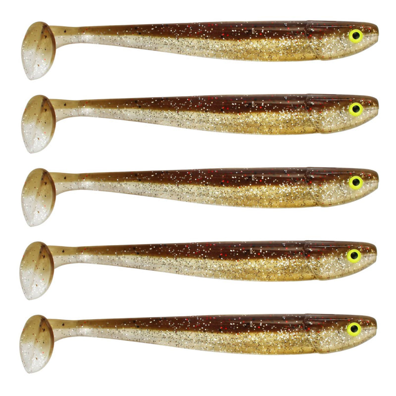 "Tackle Porn Magnetic Mama 5"" Softbait, 12,60 cm - 11g - 5 Stück - Brown Chameleon"