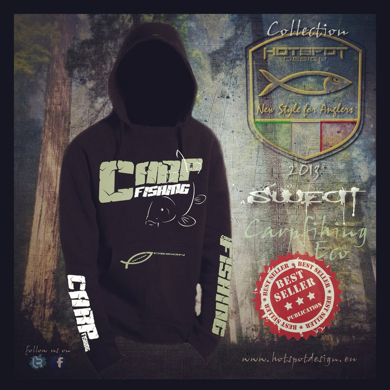 Hotspot Design Hoodie Sweatshirt Carpfishing Eco