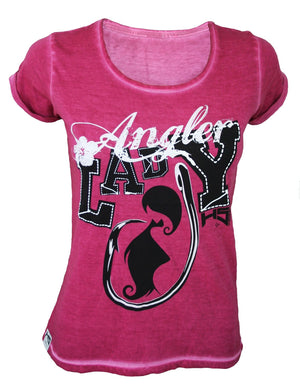 Hotspot Design Damen T-Shirt Lady Angler