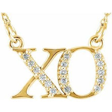 Load image into Gallery viewer, XO diamond necklace