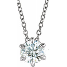 "Load image into Gallery viewer, Diamond 6-prongs Solitaire 16-18"" Necklace"