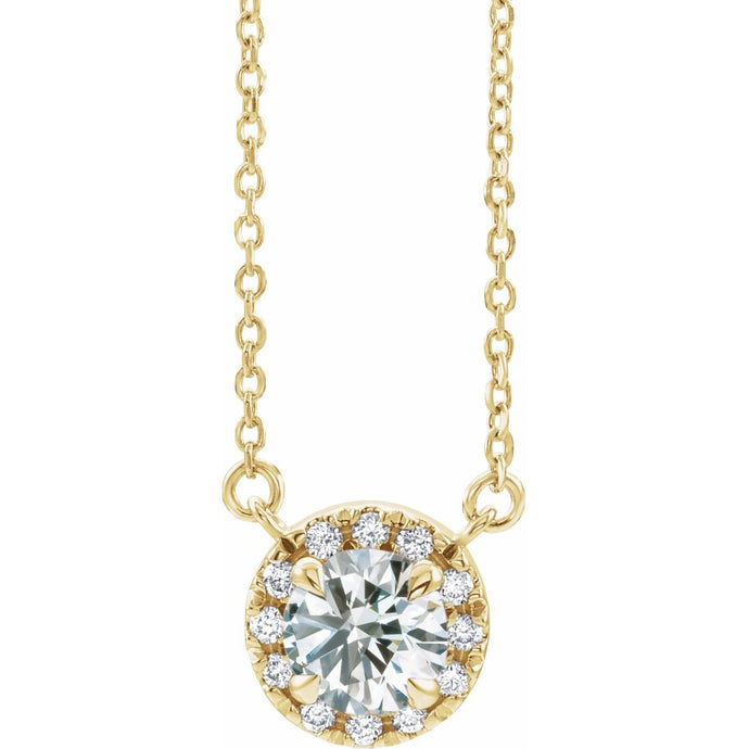 Diamond French Necklace
