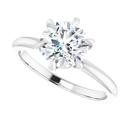 6 prong round diamond ring