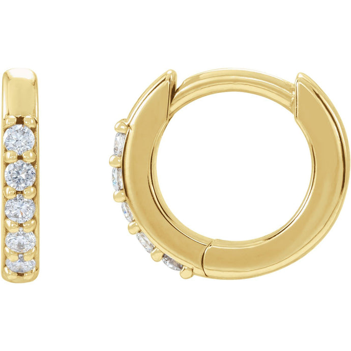 Ariana Diamond Hinged Hoop Earrings