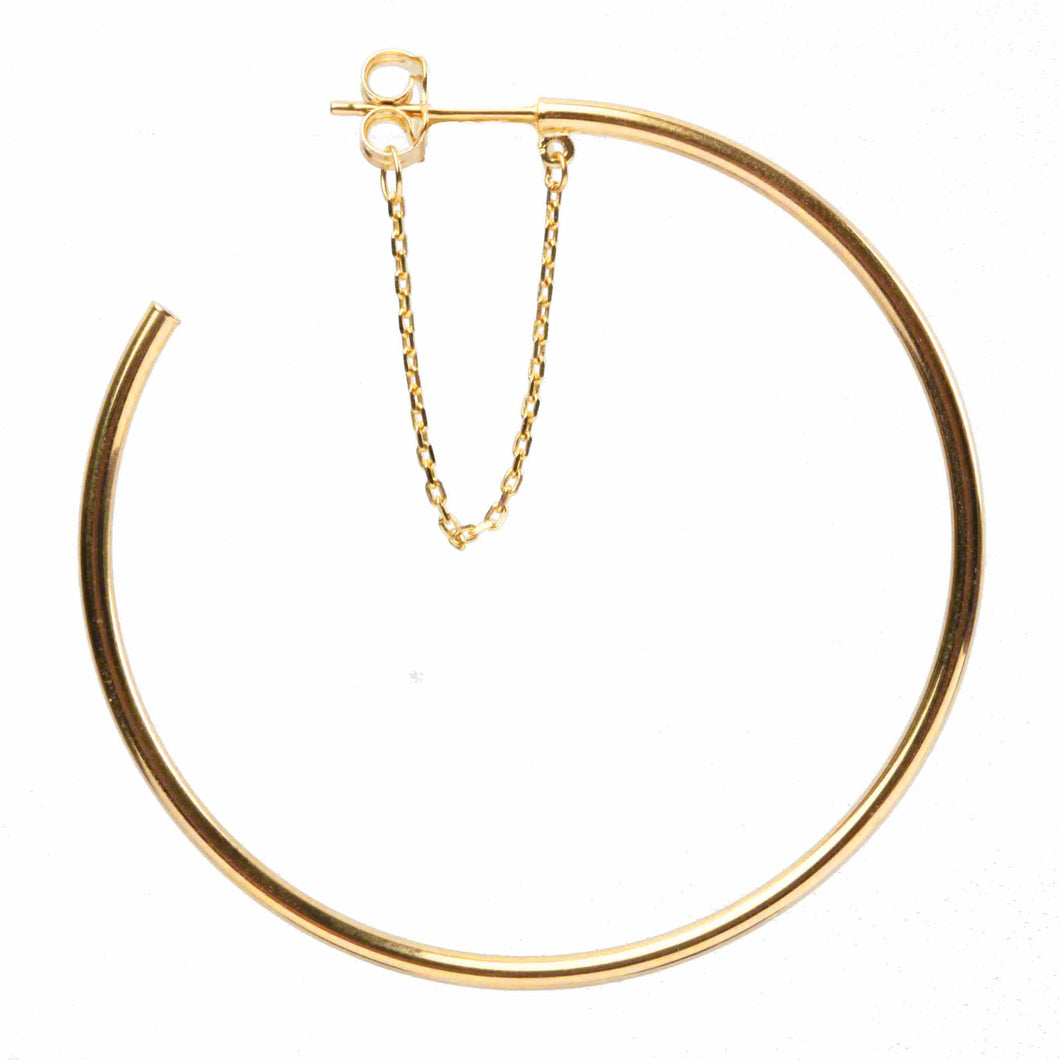 Hoops with chain