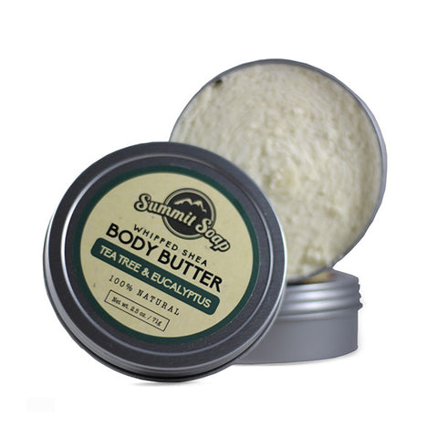 Tea Tree & Eucalyptus Whipped Shea Body Butter (2.5 oz.)