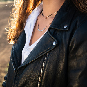 Delicate arch necklace is adjustable, water worthy and strong. Wear this Bronwen Jewelry for all your outdoor activities.