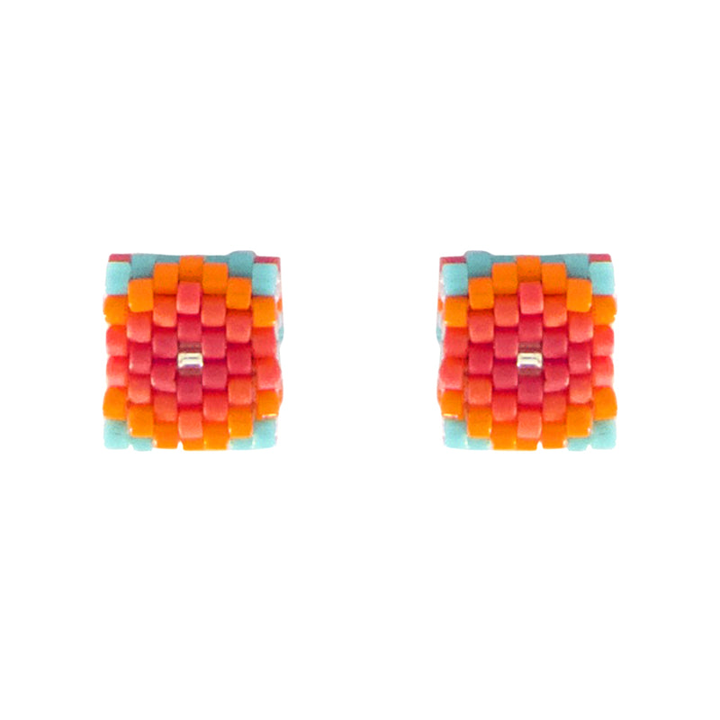 Beaded Aurelia Post Earrings - Dulce