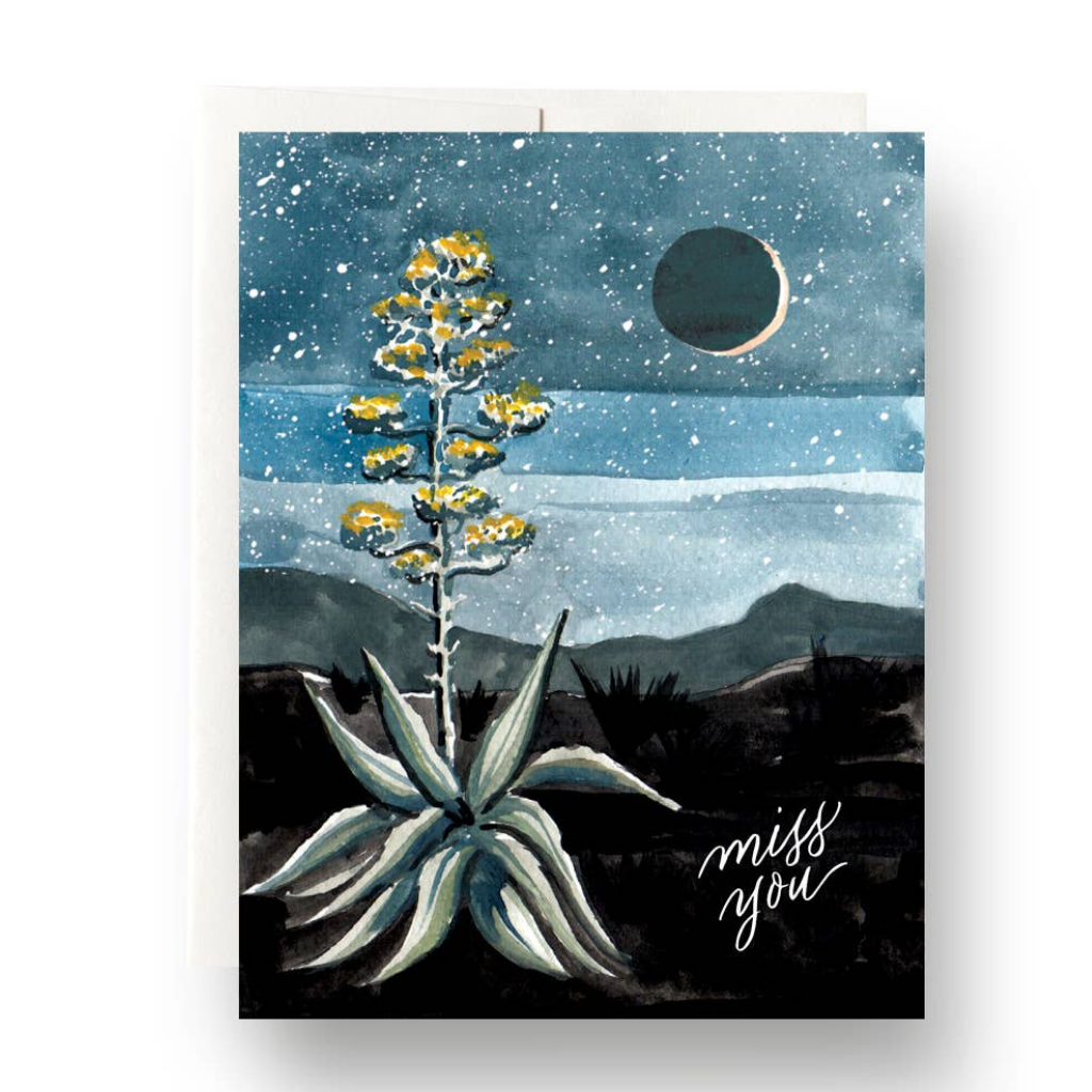 Agave Miss You Card