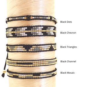 Rosa Bracelet - Black Channel