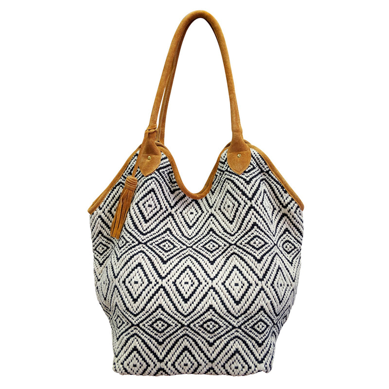 Black & White Diamond Bucket Tote