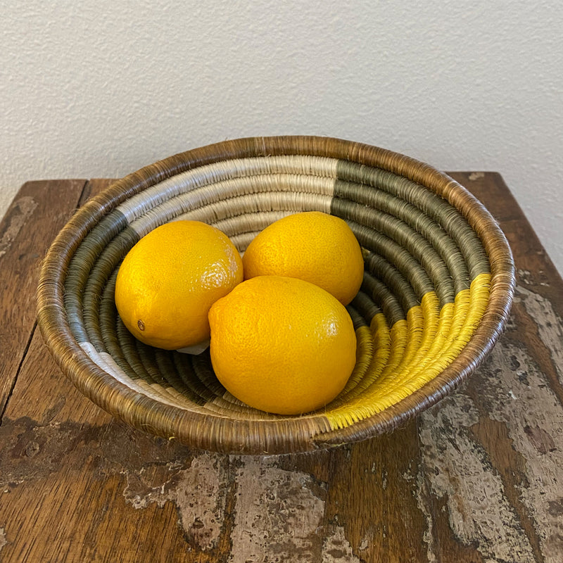 Yellow Color Block Basket