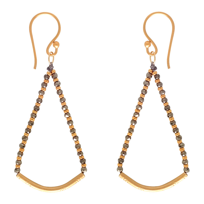 Crescendo earrings with faceted gemstones are perfect for day and refined enough for evening. A Bronwen Jewelry must have