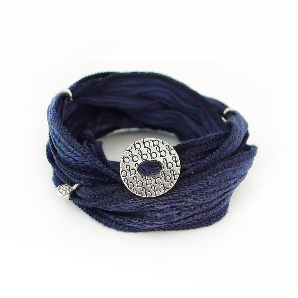 Ribbon Wrap - Denim