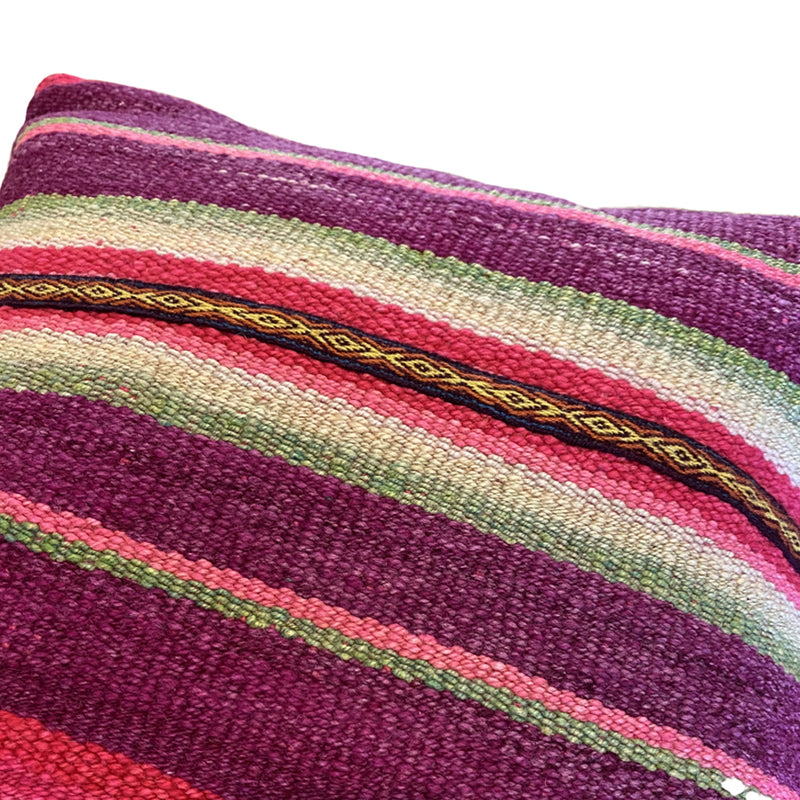 Frazada Pillow - Sunset Stripe 18""