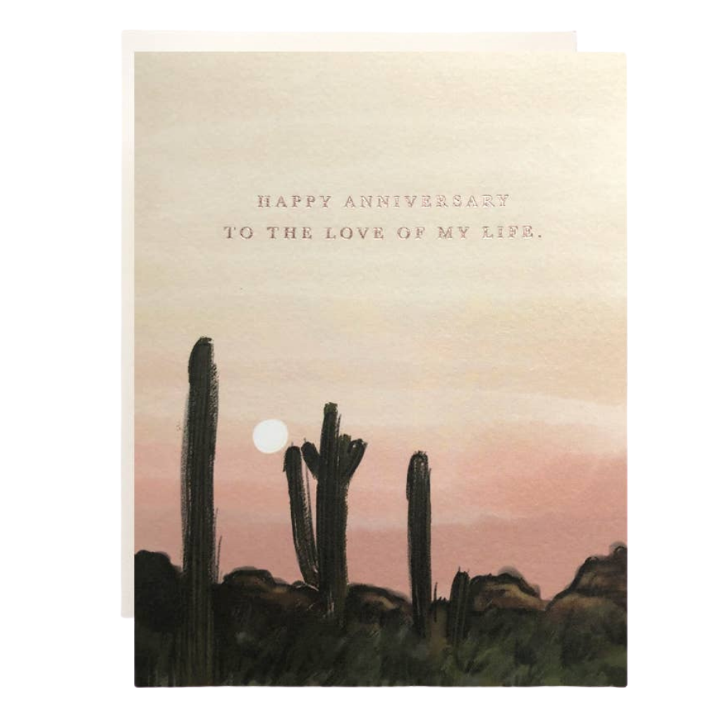 Sunset Anniversary Love of my Life Card