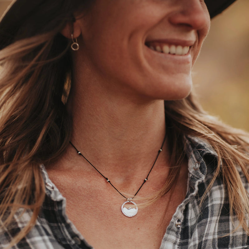 Our Three Sisters necklace is water worthy, strong and a Bronwen Jewelry favorite. Active jewelry for your active lifestyle.