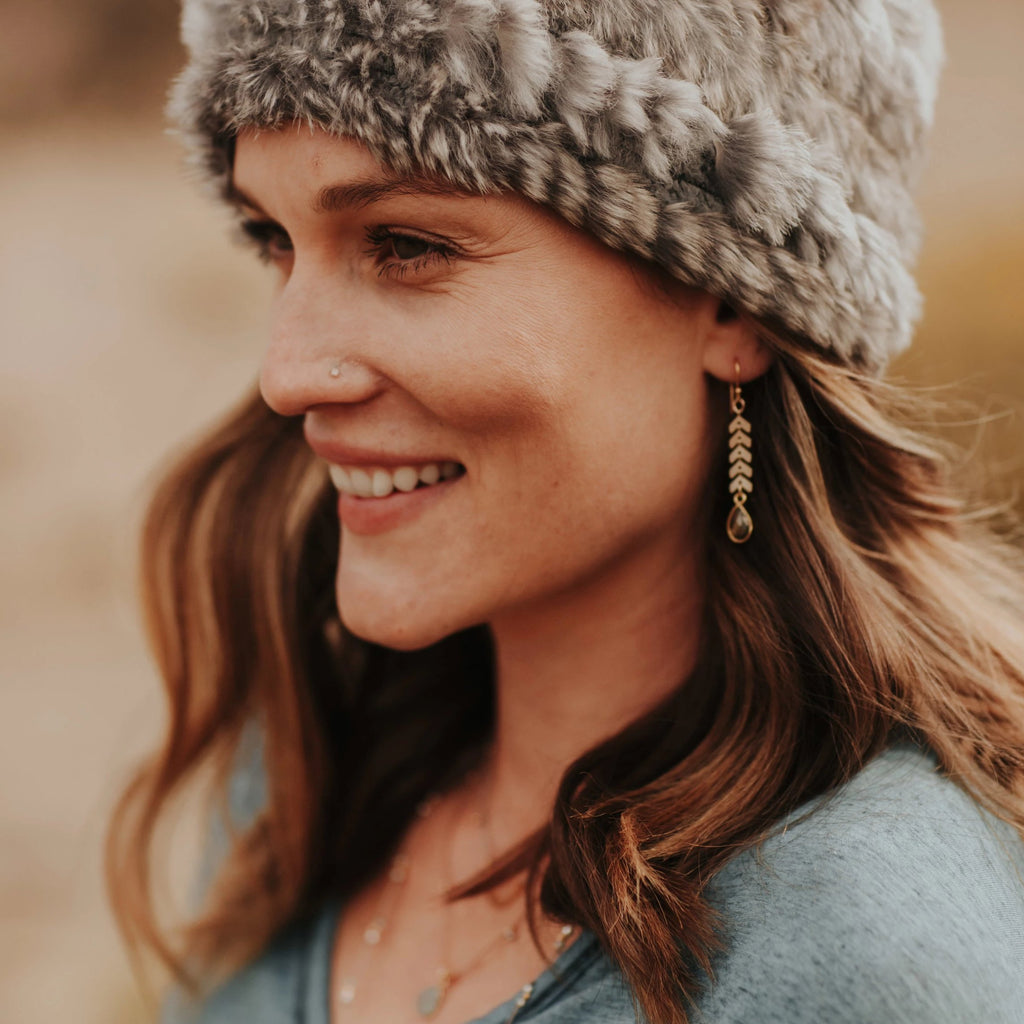 Cascade Drop mixed metal earrings are a Bronwen Jewelry gem, the perfect gift for the adventure girl in your life