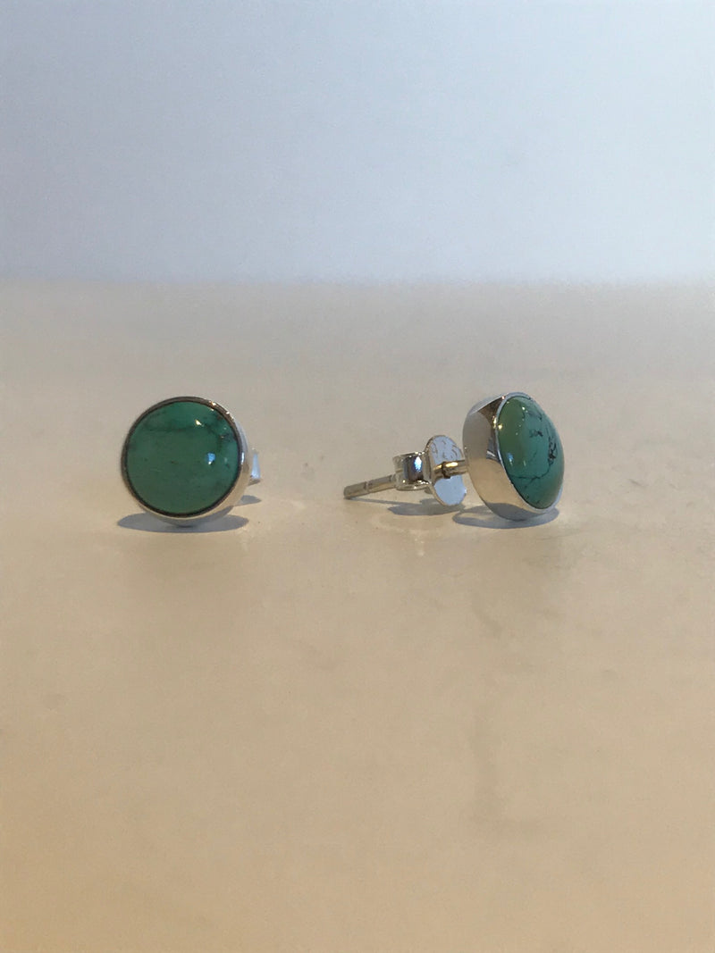 Sterling Silver Post Earrings - Turquoise