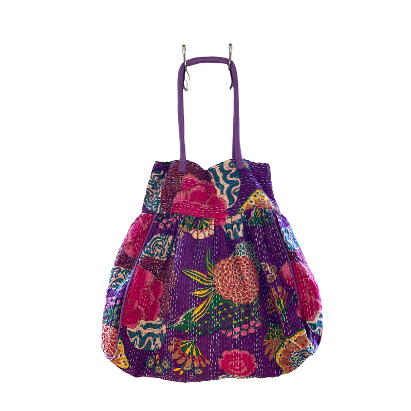 Kantha Quilt Bag - Purple