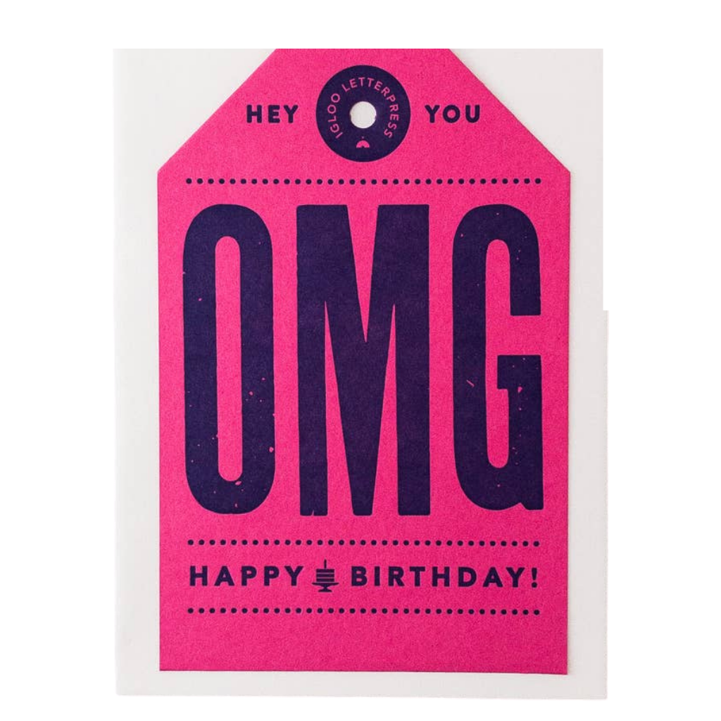 OMG Happy Birthday Tag Card