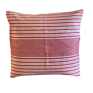 Peppermint Stripe Cotton Pillow - 20""