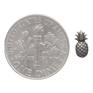 Tiny Charm Post Earrings - Pineapple