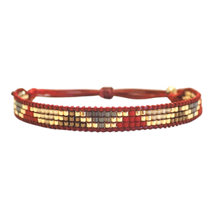 Rosa Bracelet - Red Triangles