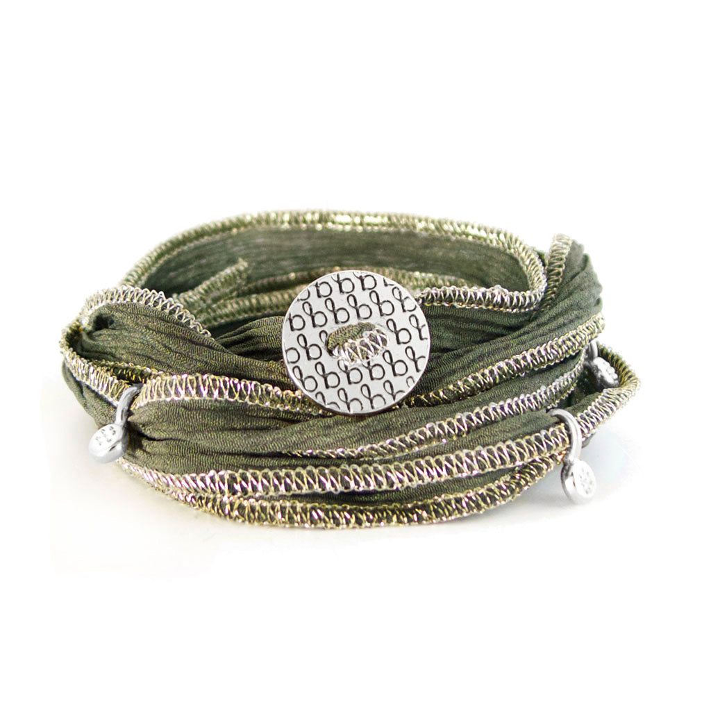 Ribbon Wrap - Deep Olive